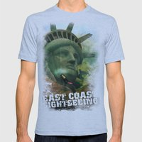 East Coast Sightseeing Mens Fitted Tee Athletic Blue SMALL