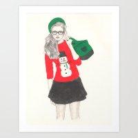 Christmas Fashion Art Print