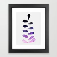 Purple Ombre Plant Framed Art Print