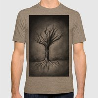Untitled (Wraith) Mens Fitted Tee Tri-Coffee SMALL