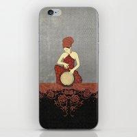 Rastafari Woman On Bongo… iPhone & iPod Skin