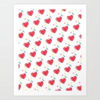 Heart Hearts Art Print