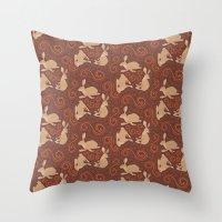 Hare Hoedown Throw Pillow