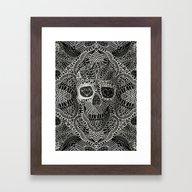 Lace Skull Framed Art Print