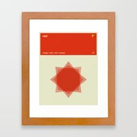 Color Print - Red Framed Art Print