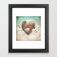 My Heart Is My Castle Framed Art Print