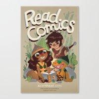 Read Comics Poster Canvas Print