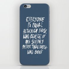 Equal iPhone & iPod Skin