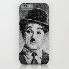 Chaplin portrait - Fingerprint iPhone 6 Slim Case
