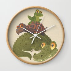 Swamp Squad Wall Clock