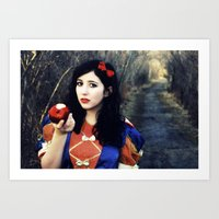Snow White and Her Apple Art Print
