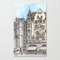 Downtown Basel, Switzerland Canvas Print