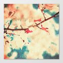 Autumn (Leafs in a textured and abstract sky) Canvas Print