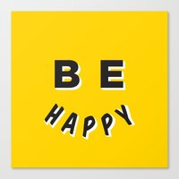 Be Happy Smiley Canvas Print