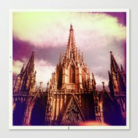Canvas Print featuring Barcelona by SABOTAGE
