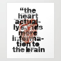 The Heart Actually... Art Print