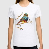 Twilight Bird 2 Womens Fitted Tee Ash Grey SMALL