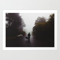 Fog In The Blue Mountain… Art Print
