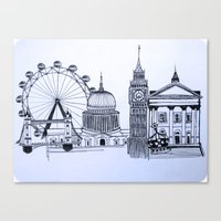 You sound like you're from London Canvas Print