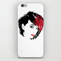 minimal girl 2 iPhone & iPod Skin