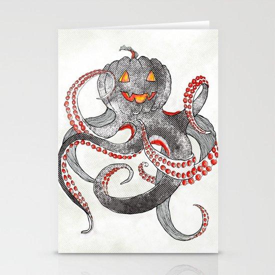 Halloween octopus Stationery Card