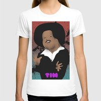 The Great Tim Maia Womens Fitted Tee White SMALL