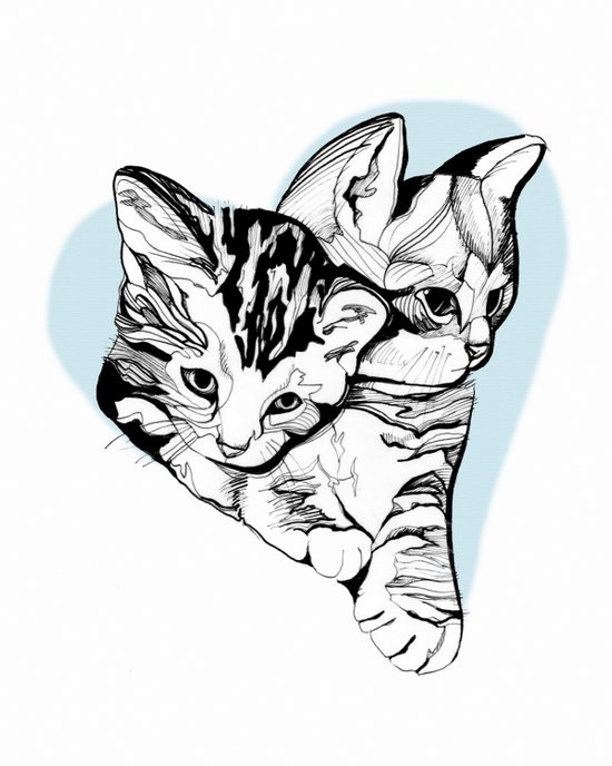 Kitten Love Art Print