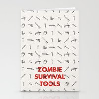 Zombie Survival Tools - … Stationery Cards