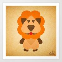 Lion Heart Art Print