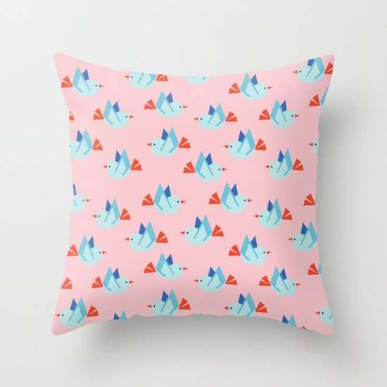 LITTLE GEO BIRD Throw Pillow