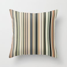 HIGH SOCIETY VINTAGE BEACH STRIPES 002 Throw Pillow
