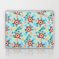 Folk Floral (blue) Laptop & iPad Skin