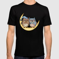 Owls Mens Fitted Tee Black SMALL