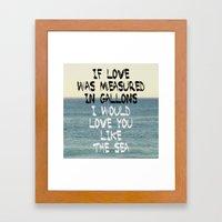 Like The Sea Framed Art Print