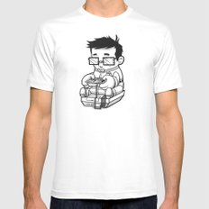Well Trained Loser SMALL White Mens Fitted Tee