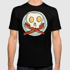 Pirate Breakfast SMALL Mens Fitted Tee Black
