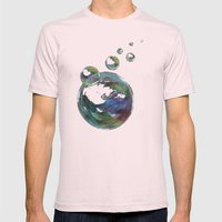 CRAYON LOVE  - Soap Bulbs Mens Fitted Tee Light Pink SMALL