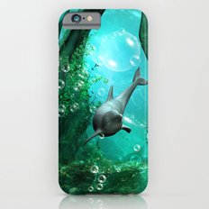 Swimming dolphin iPhone 6 Slim Case