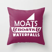 Moats And Boats And Wate… Throw Pillow