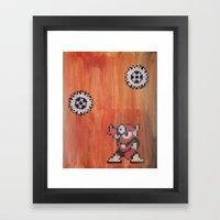 Metal man (megaman 2) Framed Art Print