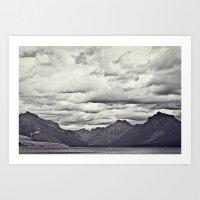 Mountain Lake Black And … Art Print