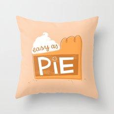 Easy as Pumpkin Pie Throw Pillow