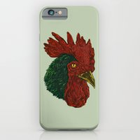 iPhone & iPod Case featuring cock-a-doodle-Boo! by Nicolae Negura