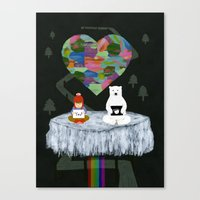 Canvas Print featuring yes yes paw by Hanako Clulow