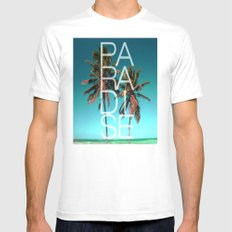 PARADISE Mens Fitted Tee SMALL White