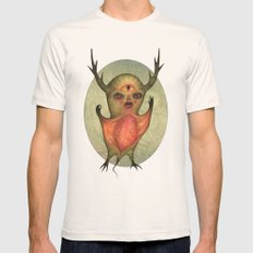 The Green Vampire Stag C… Mens Fitted Tee Natural SMALL