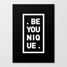 YOU AND YOURSELF (BLK) Canvas Print