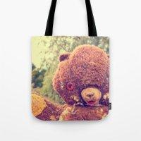 Creepy Teddy Tote Bag