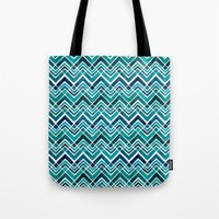 Tote Bag featuring Arrowhead Chevrons by Wild Notions