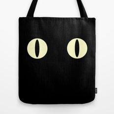 Cat Eyes (Black Cat) Tote Bag
